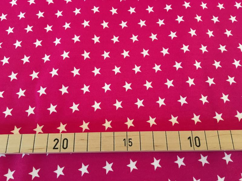 Jersey Sterne pink/weiß 2