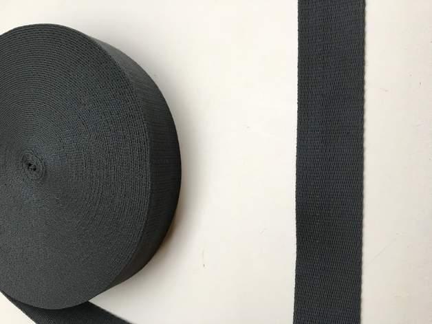 Gurtband - 40 mm - dunkelgrau