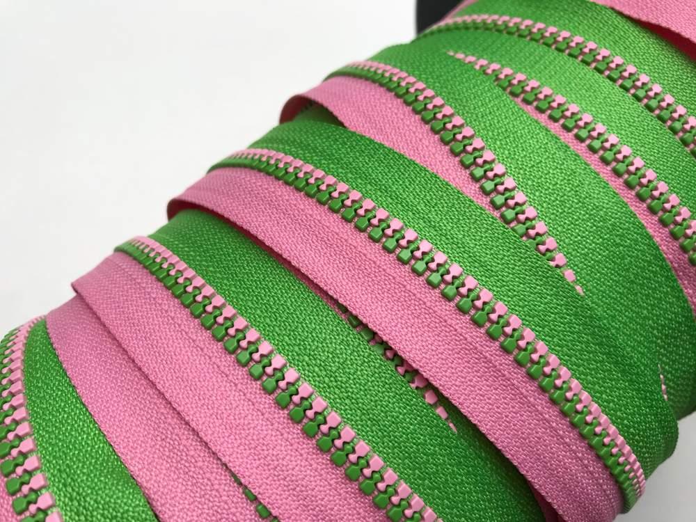 EP apfelgrün/rosa Endlos-Reißverschluss 20 cm