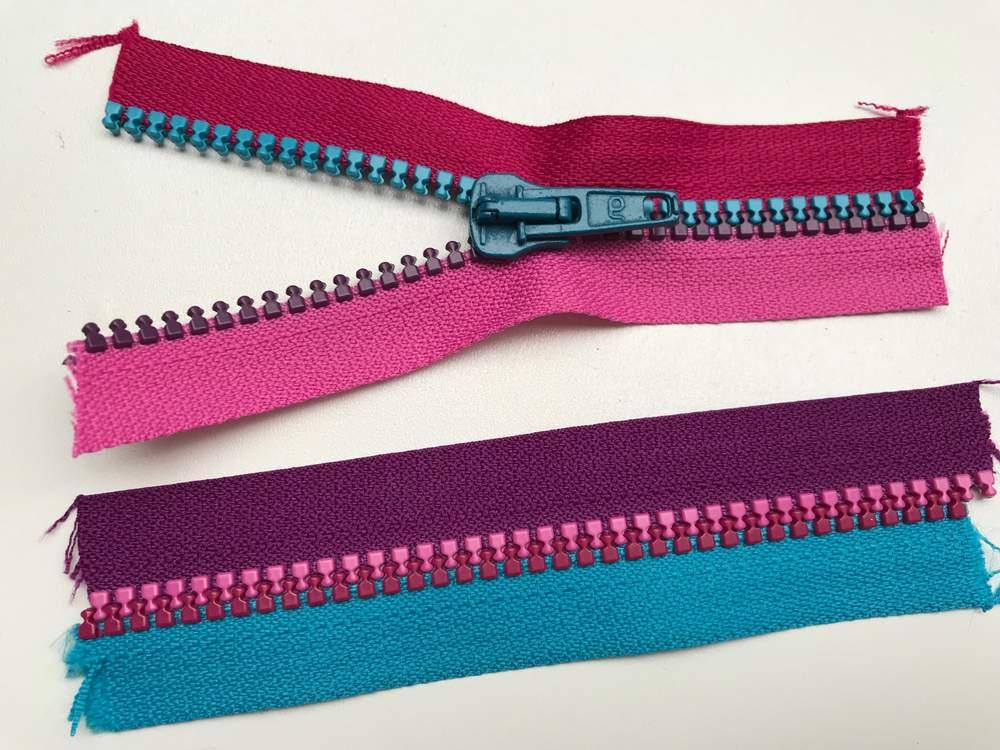 EP apfelgrün/rosa Endlos-Reißverschluss 20 cm 2