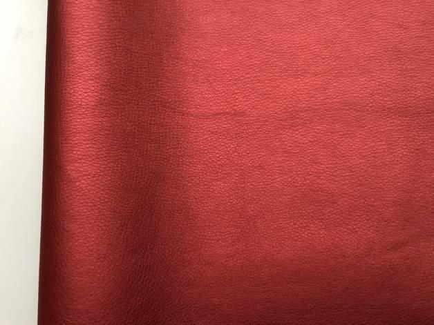 Kunstleder rot metallic 50x70 cm