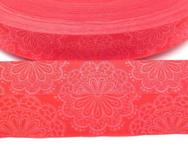 Webband SpitzenWerk - rot - pink