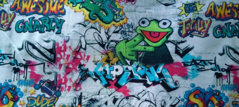 Sweat Graffiti bunt Frosch 80er Jahre