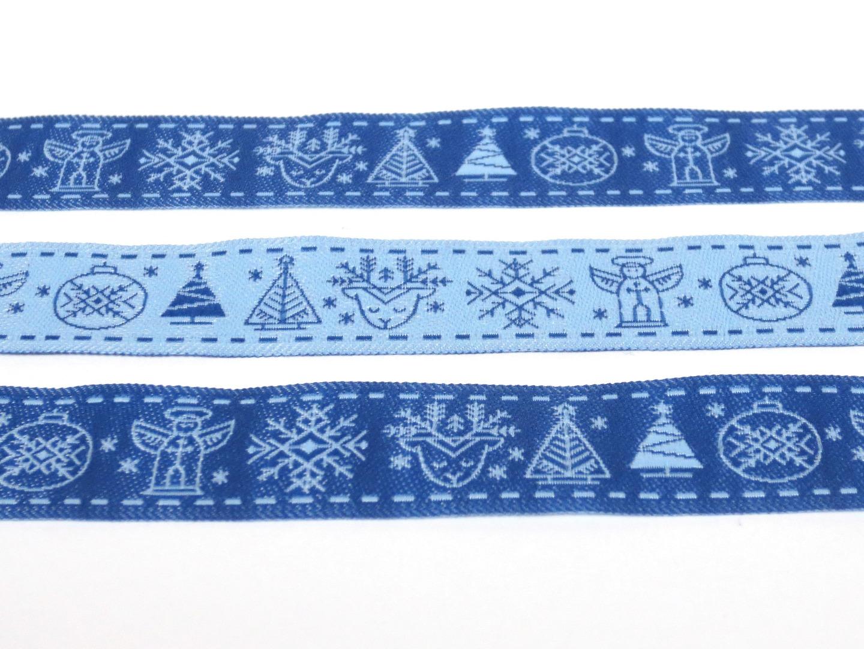 Webband Weihnachten - blau 2
