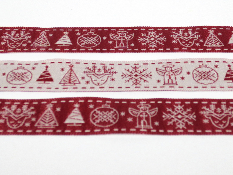 Webband Weihnachten - rot 2