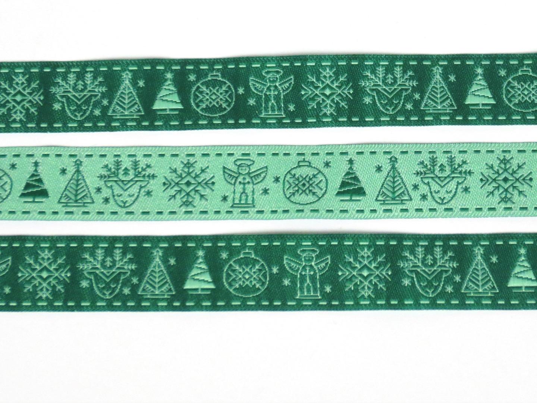 Webband Weihnachten - grün 2
