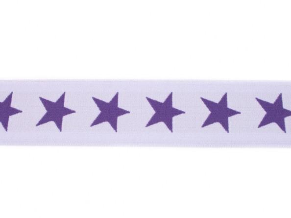 Gummiband Sterne - flieder-lila - 4