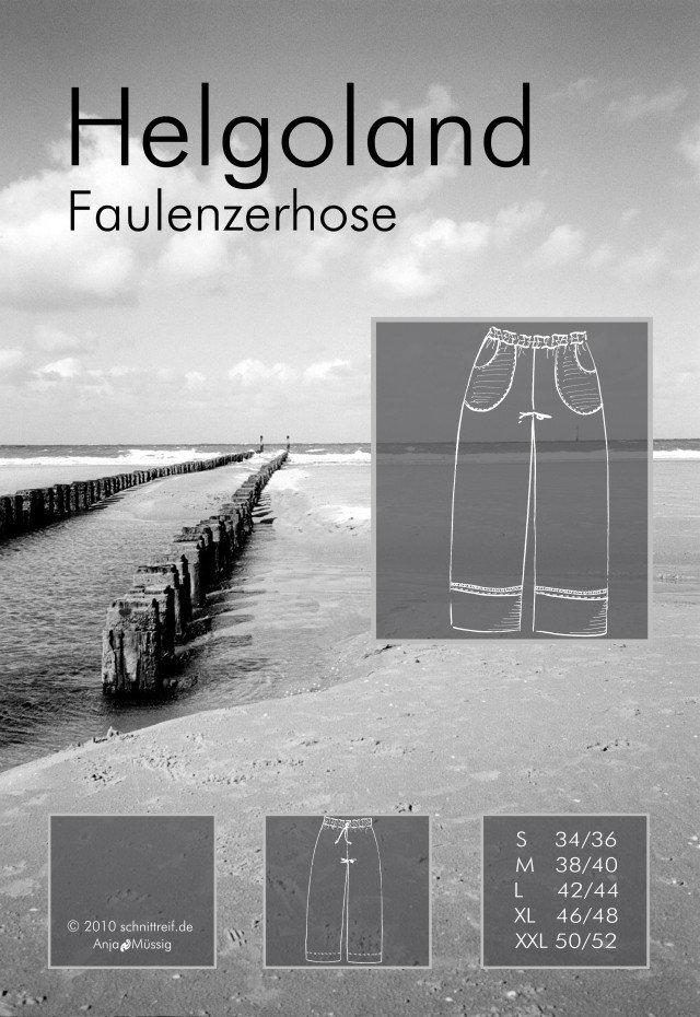 Papierschnittmuster Helgoland Faulenzerhose - Farbenmix
