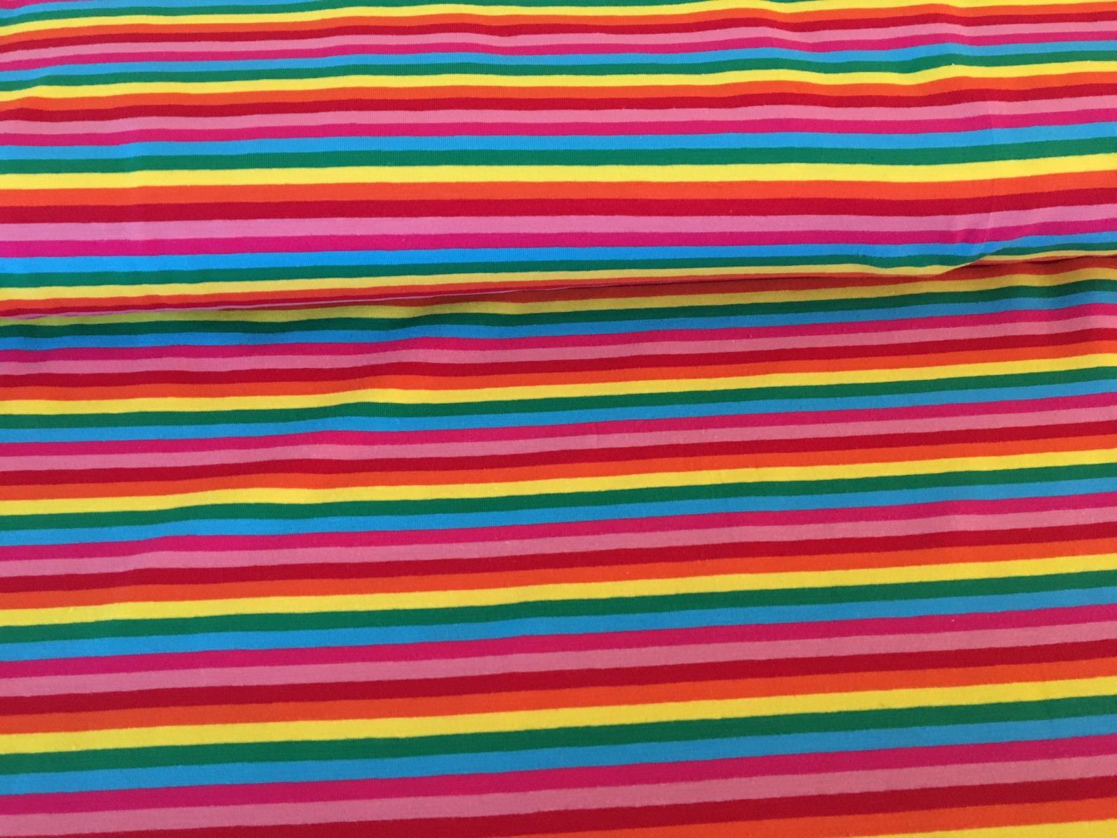 Jersey Regenbogen - schmale Ringel 2