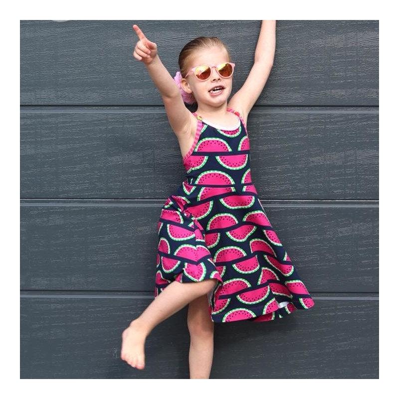 Kleid Strandtänzerin von AnniNanni Papierschnittmuster Blaubeerstern