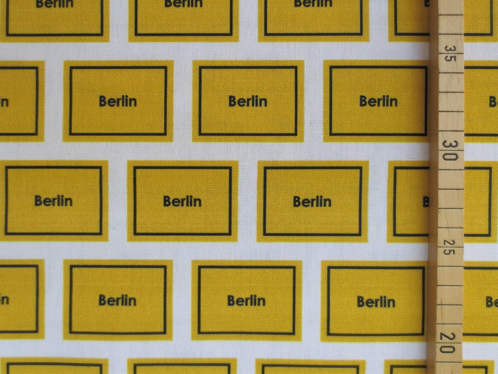 Deko-Baumwolle Berlin - Ortsschilder