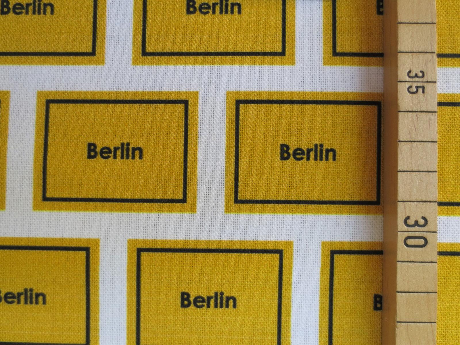 Deko-Baumwolle Berlin - Ortsschilder 2