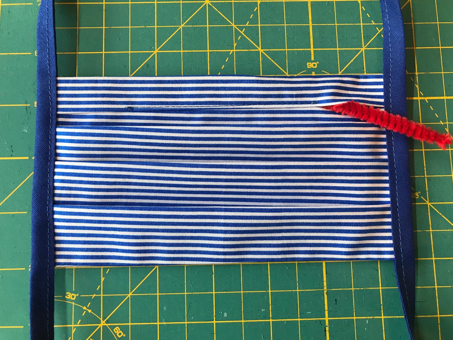 Behelfs-Gesichtsmaske Ringel schmal nachtblau/jeansblau 100 Baumwolle