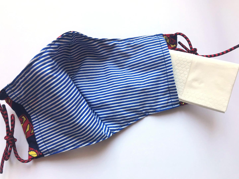 Behelfs-Maske Muster petrol -100 Baumwolle mit