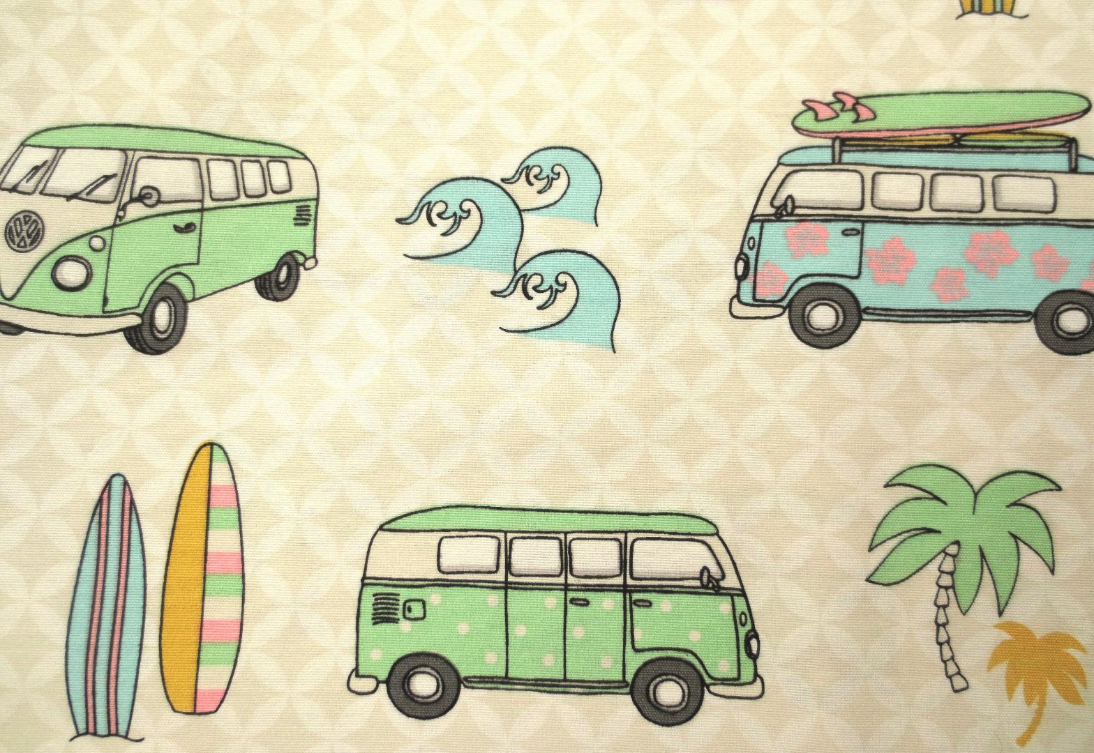 Deko-Baumwolle - VW Bus - Surfer