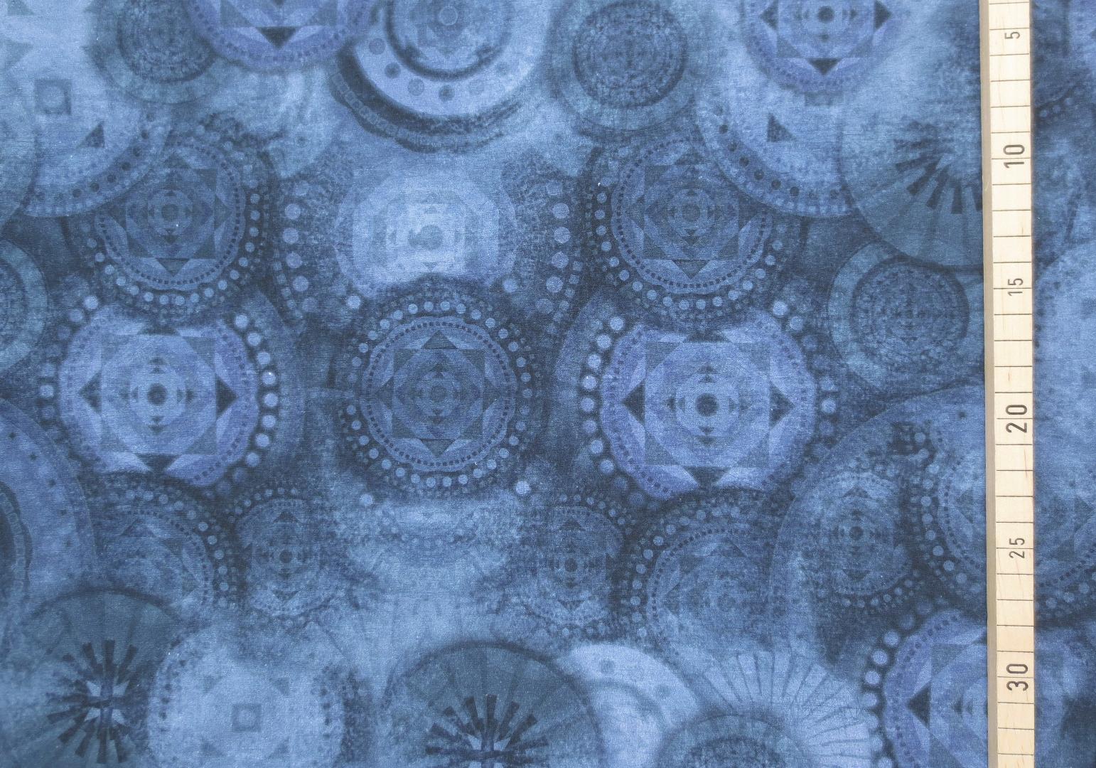 Jersey Mandala - Blau- Batikoptik 4
