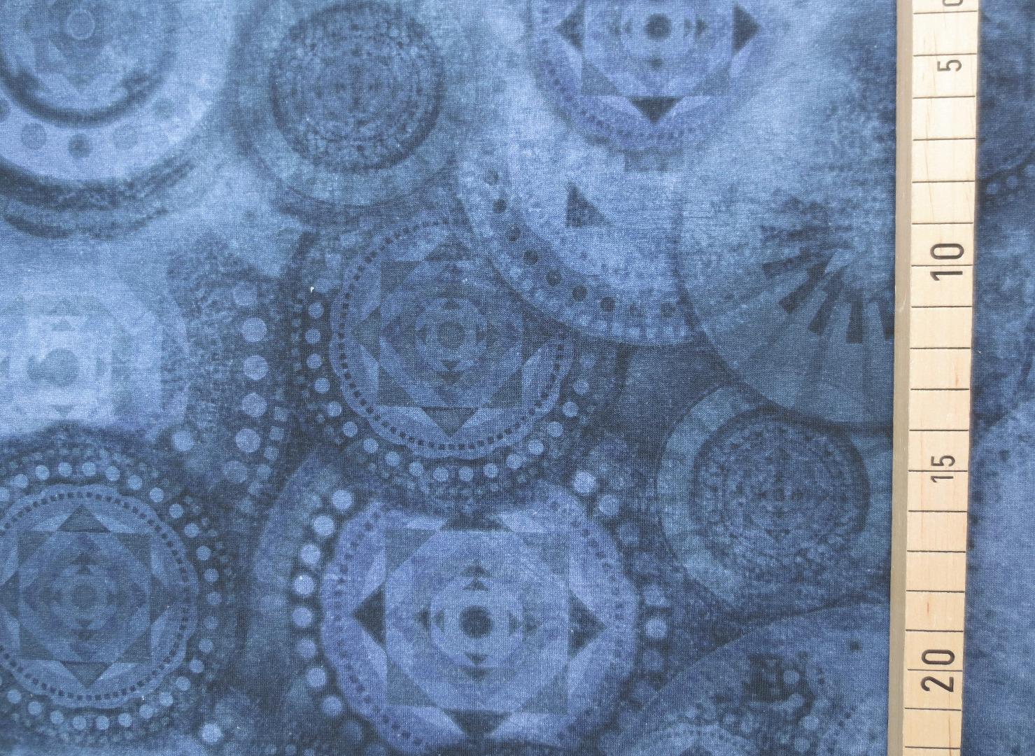 Jersey Mandala - Blau- Batikoptik 3