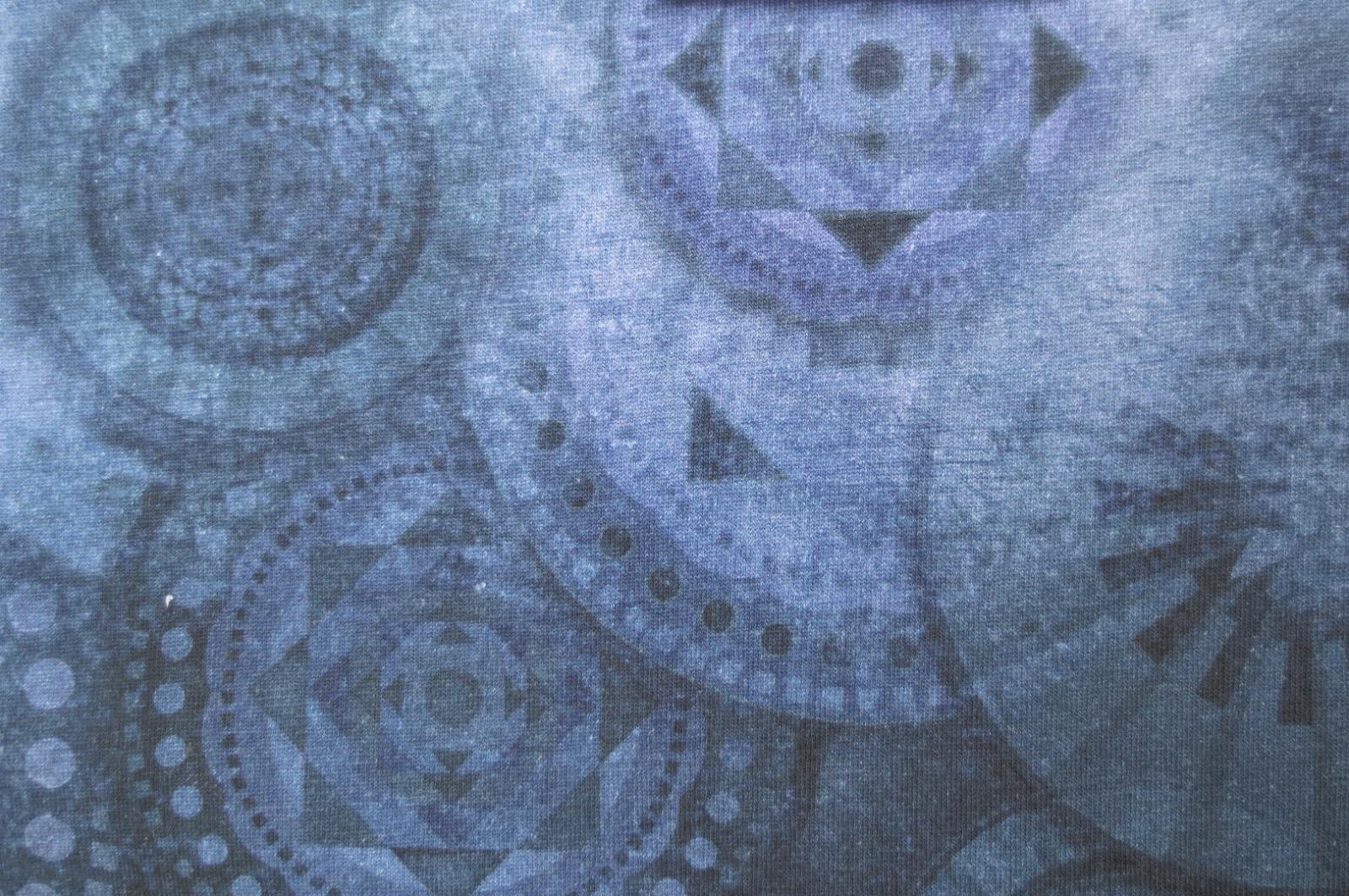 Jersey Mandala - Blau- Batikoptik