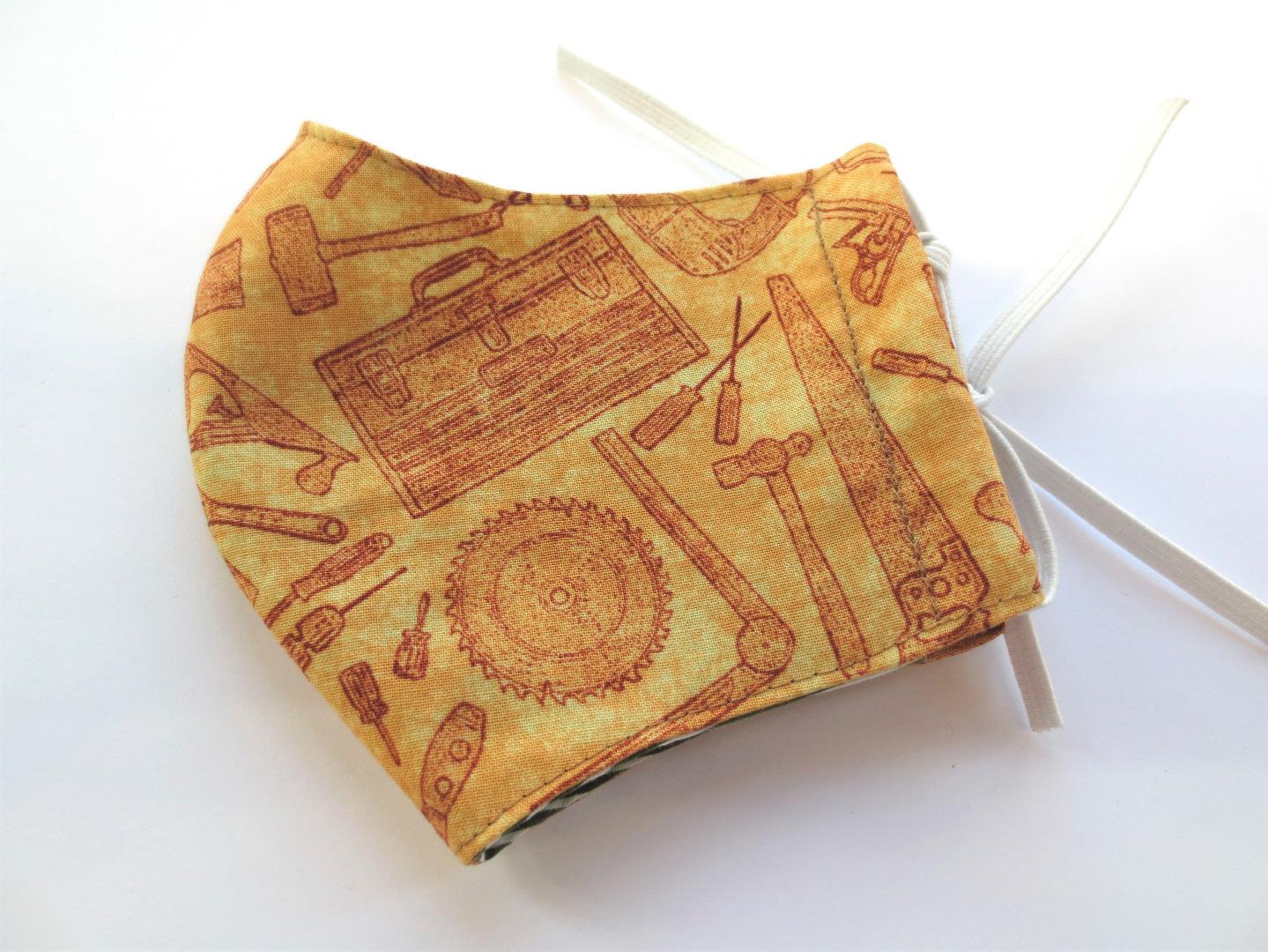 Behelfs-Maske Werkzeug -100 Baumwolle mit Gummis