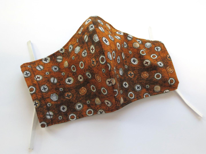 Behelfs-Maske Schrauben -100 Baumwolle mit Gummis