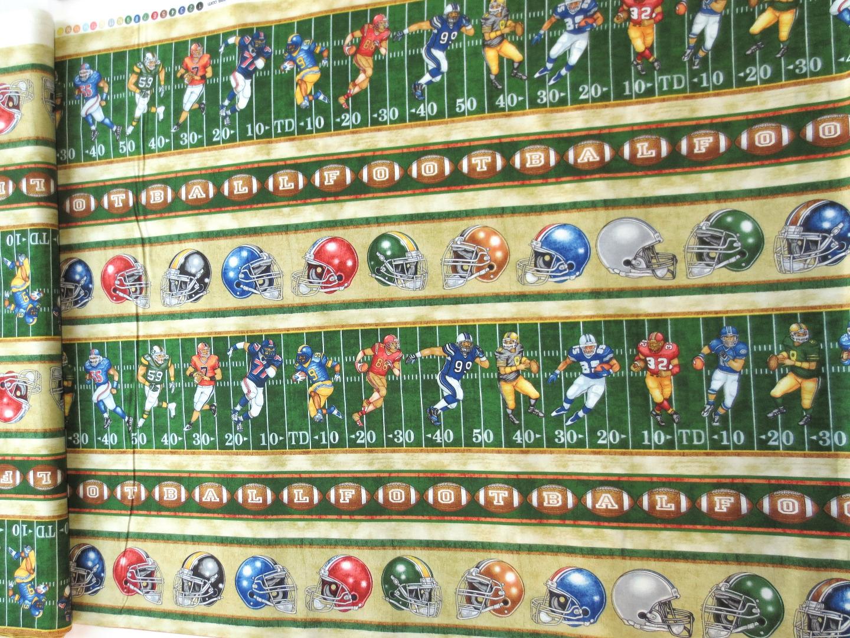 Stoff Football Spielfeld 100 Baumwolle grün