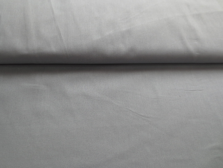 Baumwollstoff uni grau - 100 Baumwolle