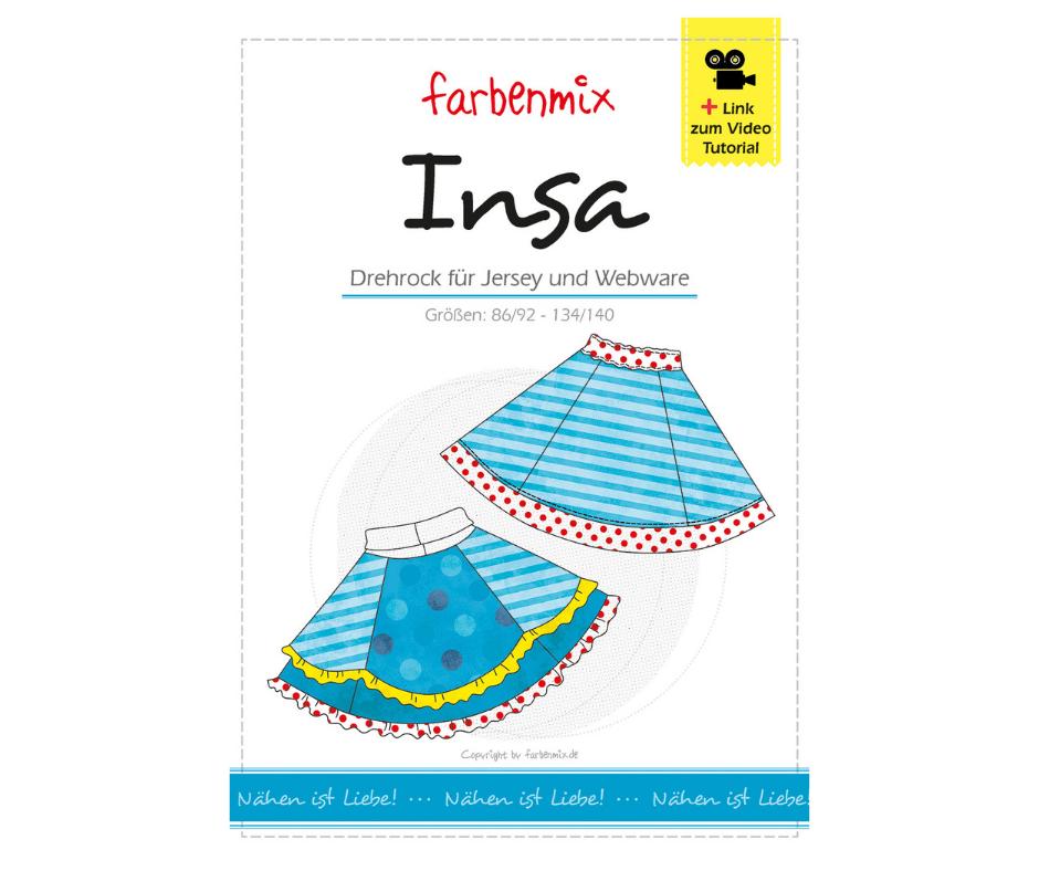 Insa - Drehrock - Papierschnittmuster