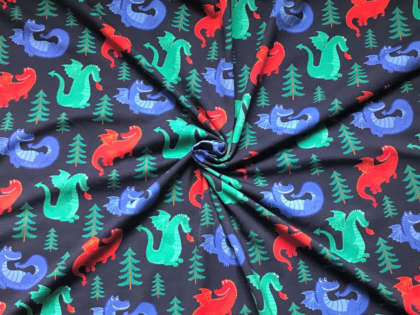 Jersey Drache - dunkelblau 5