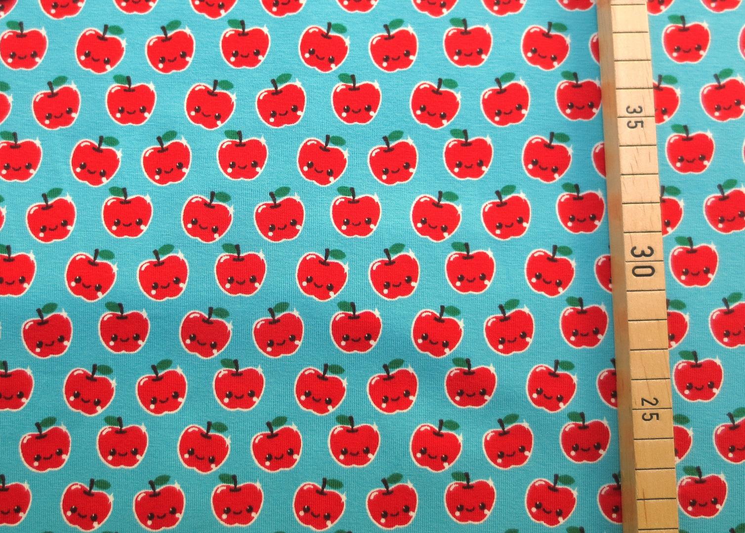 Jersey Äpfel - hellblau 3