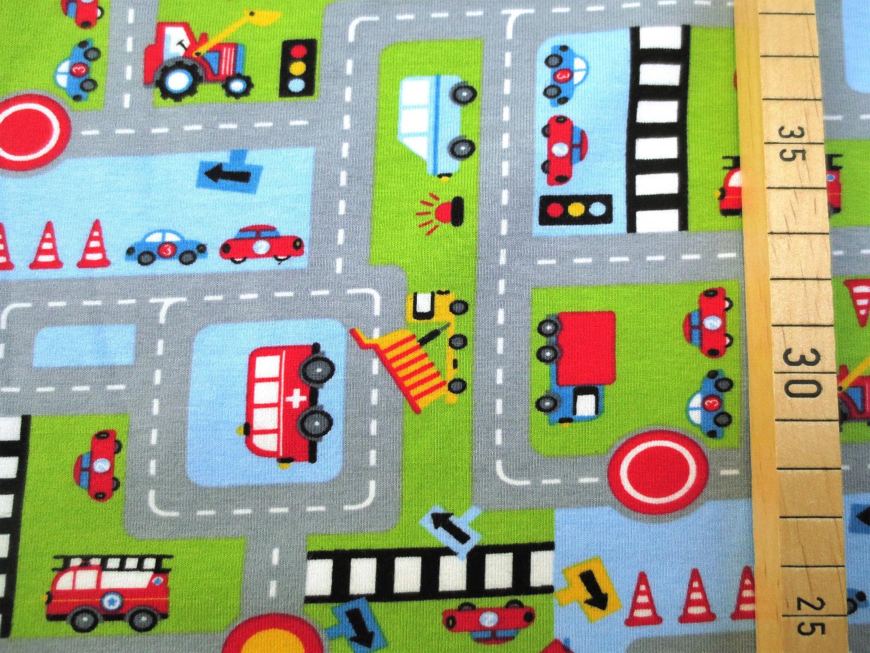 Jersey Autos Straße hellblau Bagger Feuerwehr
