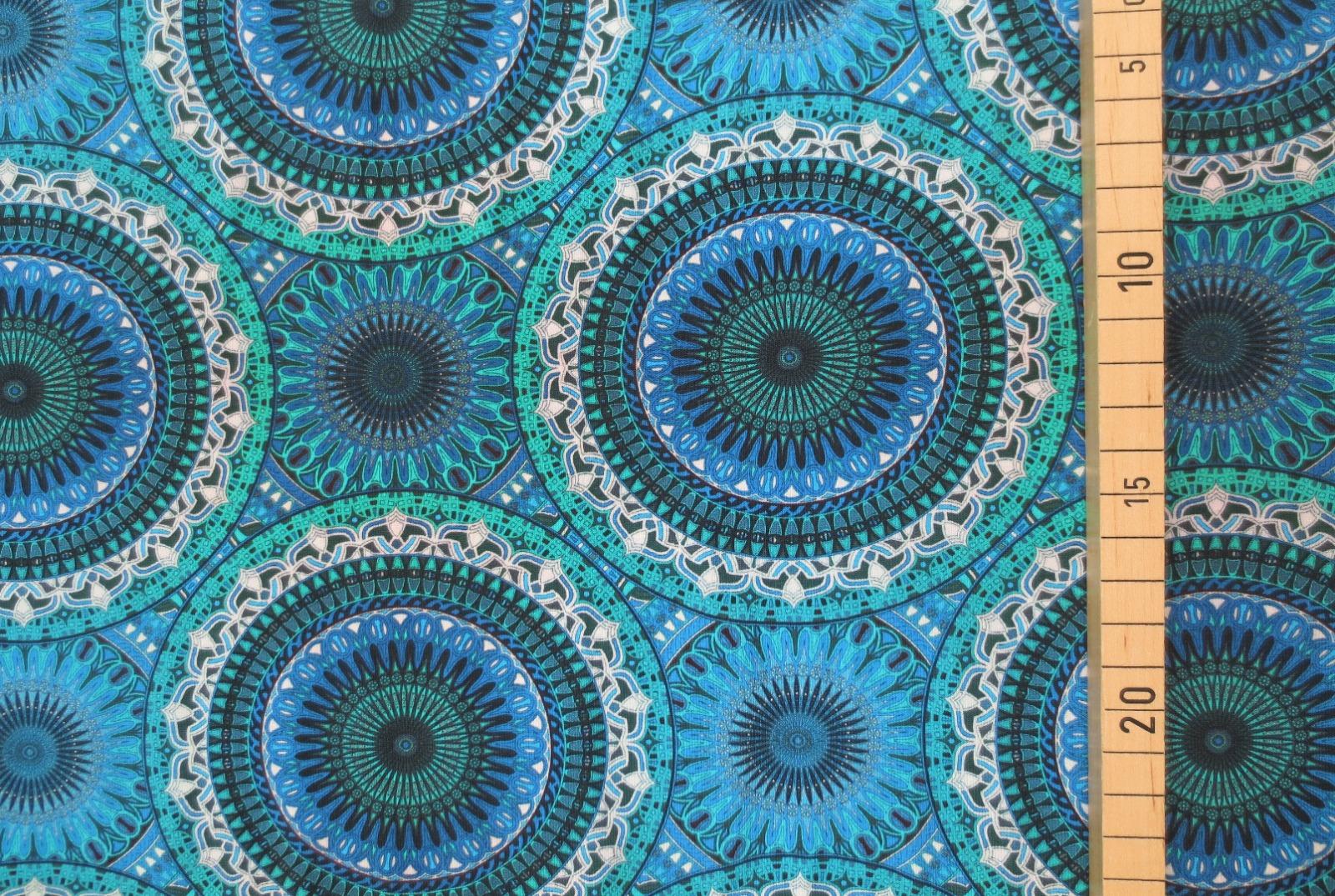 Jersey Mandala - Blautöne- Ornamente