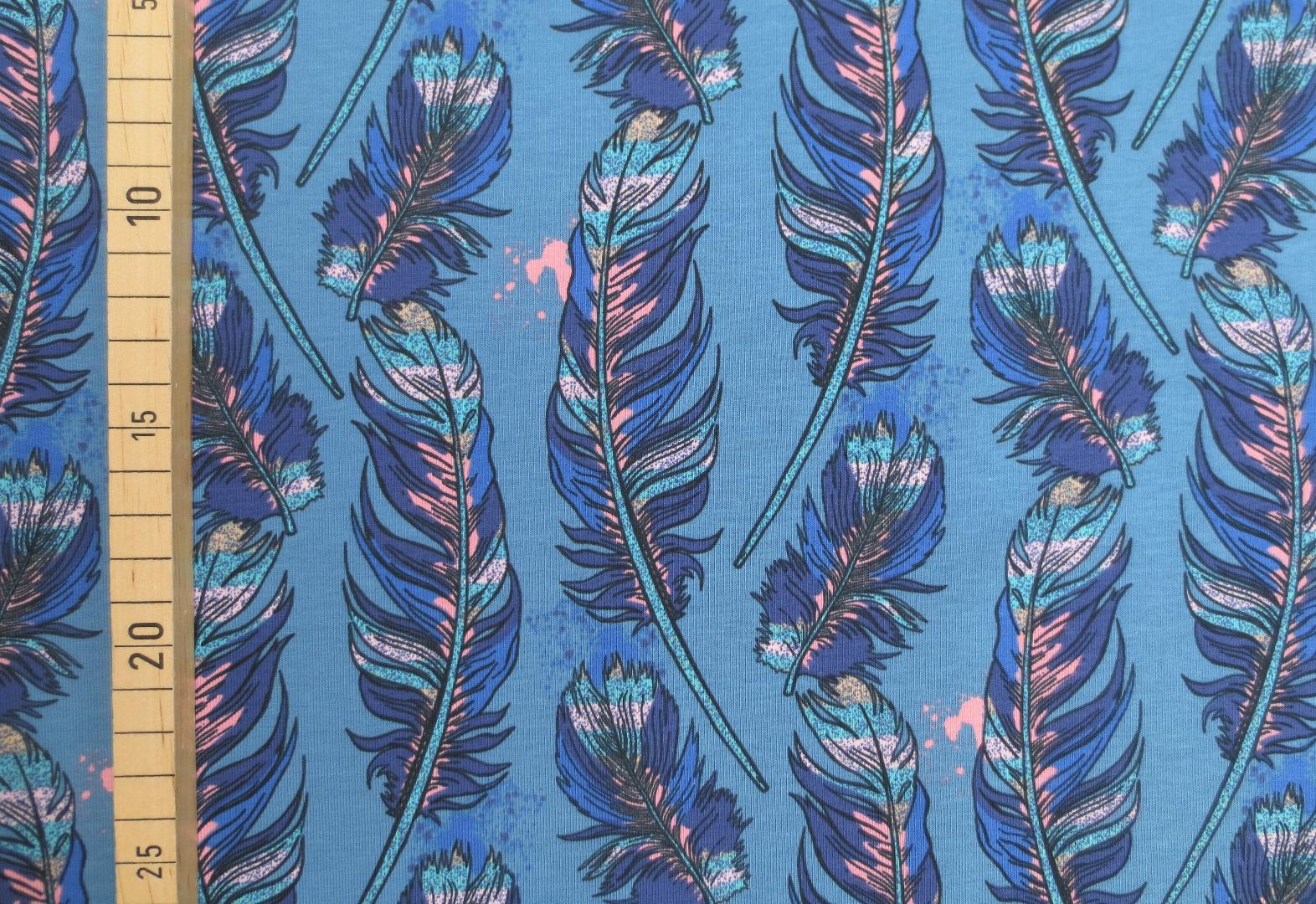 Jersey Federn - blau 2
