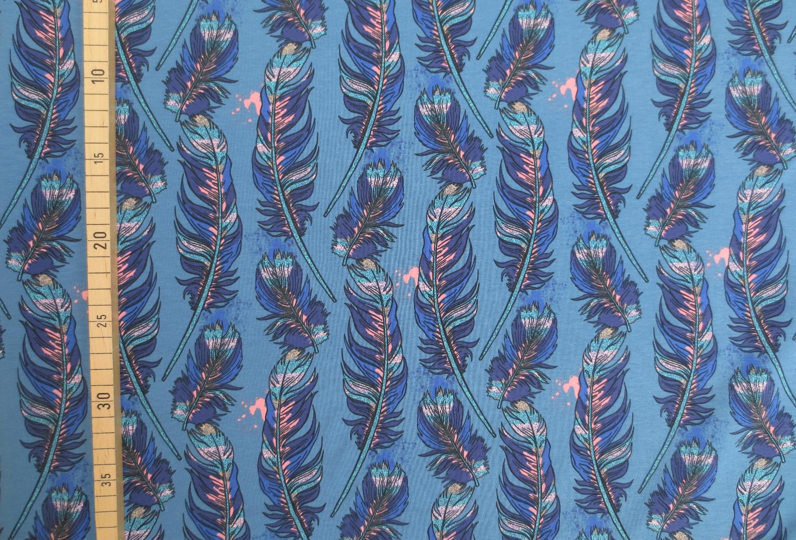 Jersey Federn - blau 3