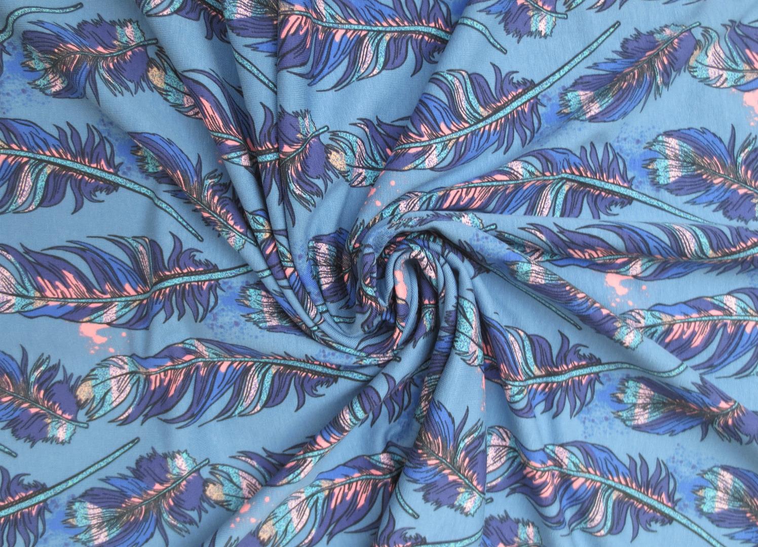 Jersey Federn - blau 4