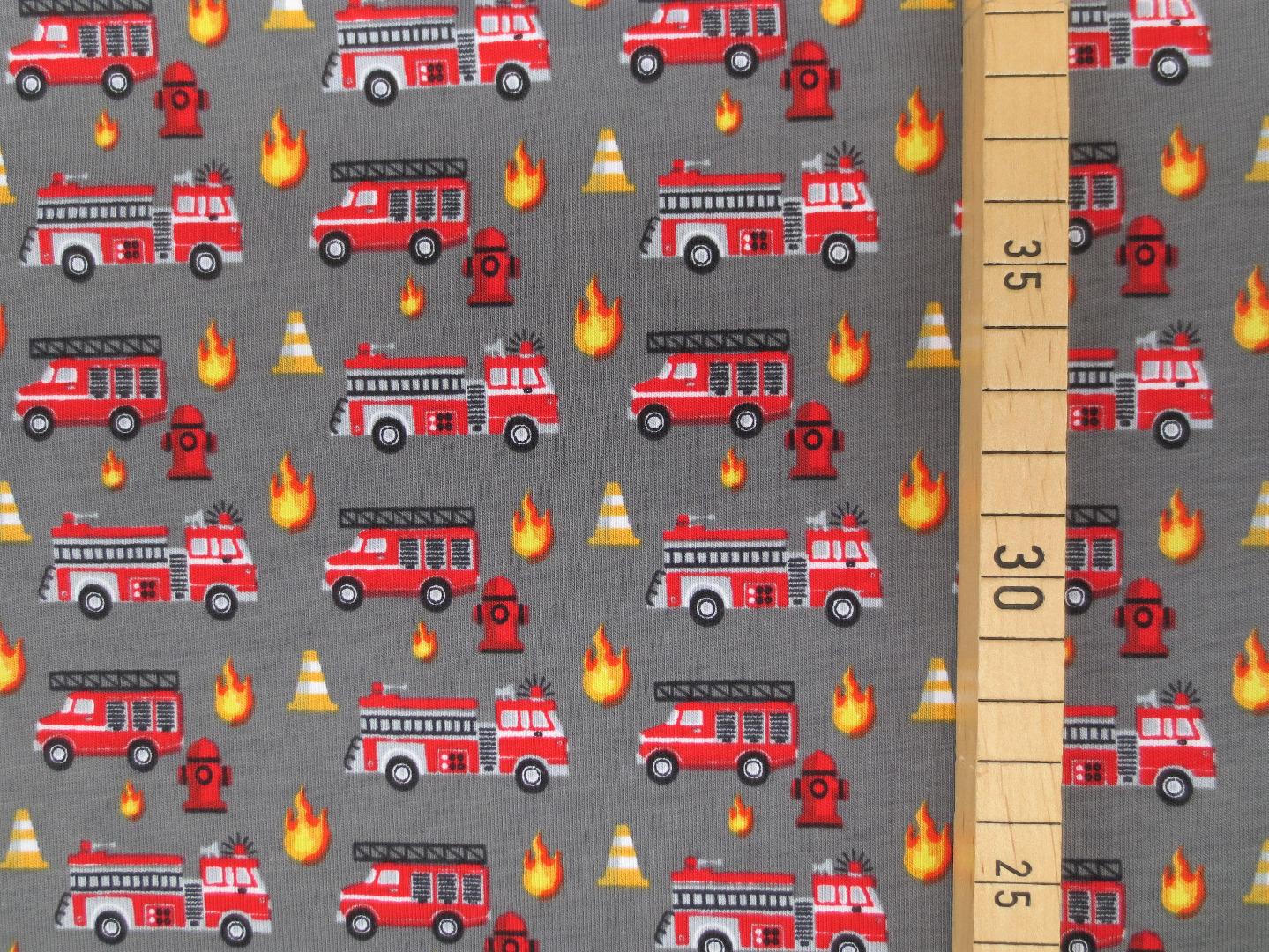 Jersey Feuerwehr - grau - amerikanisch