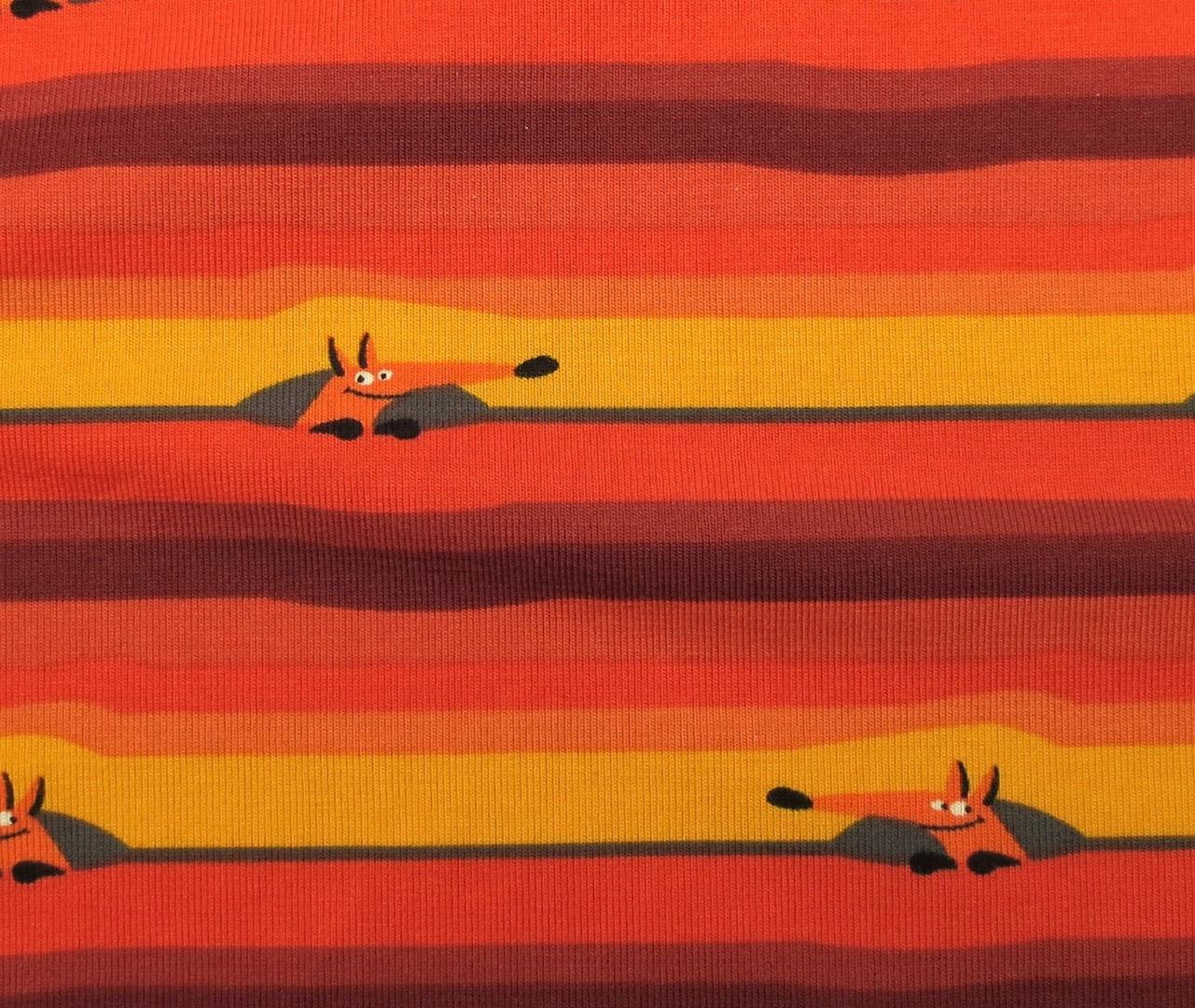 Jersey Fuchs orange rot gelb geringelt