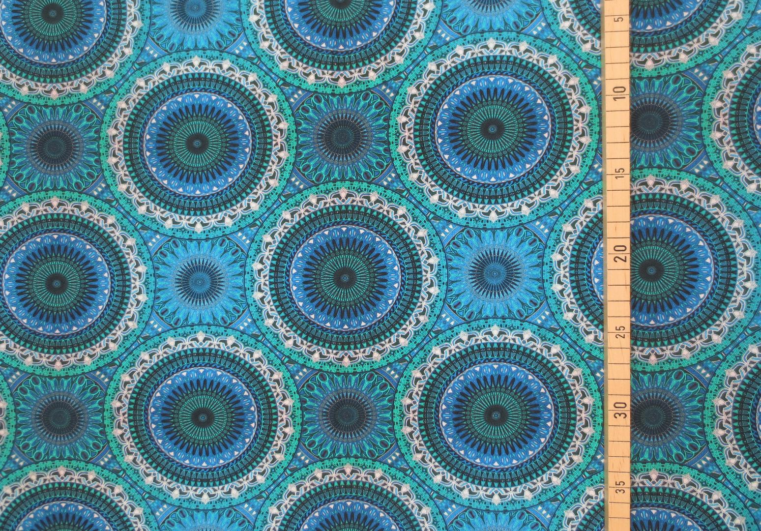 Jersey Mandala - Blautöne- Ornamente 3