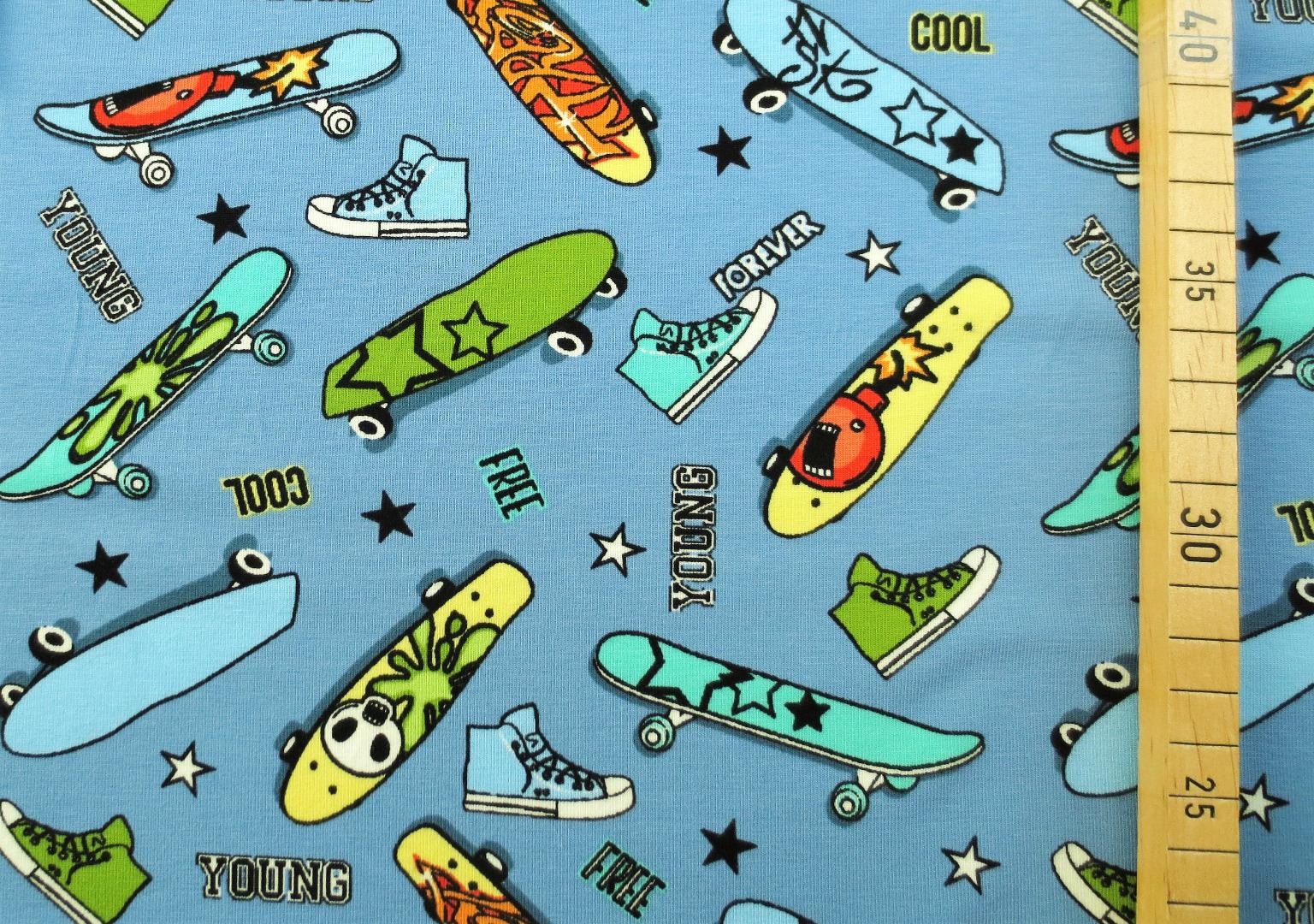 Jersey Skateboard - hellblau 2