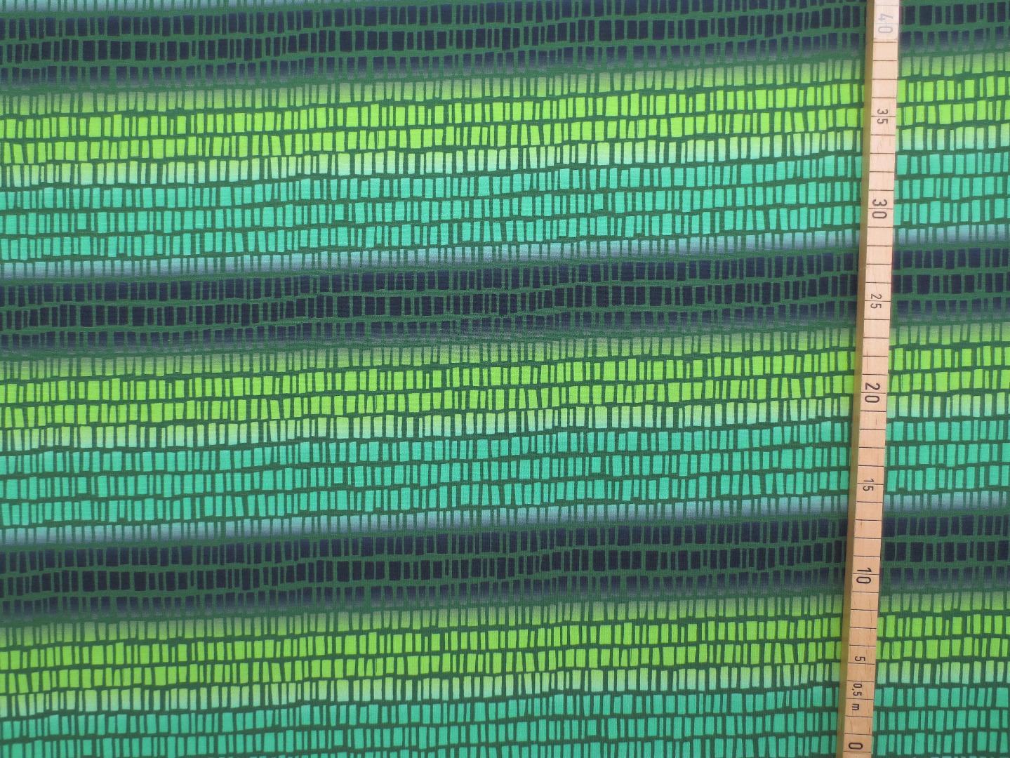 Jersey Streifen Blaubeerstern SquaresNStripes blau grün