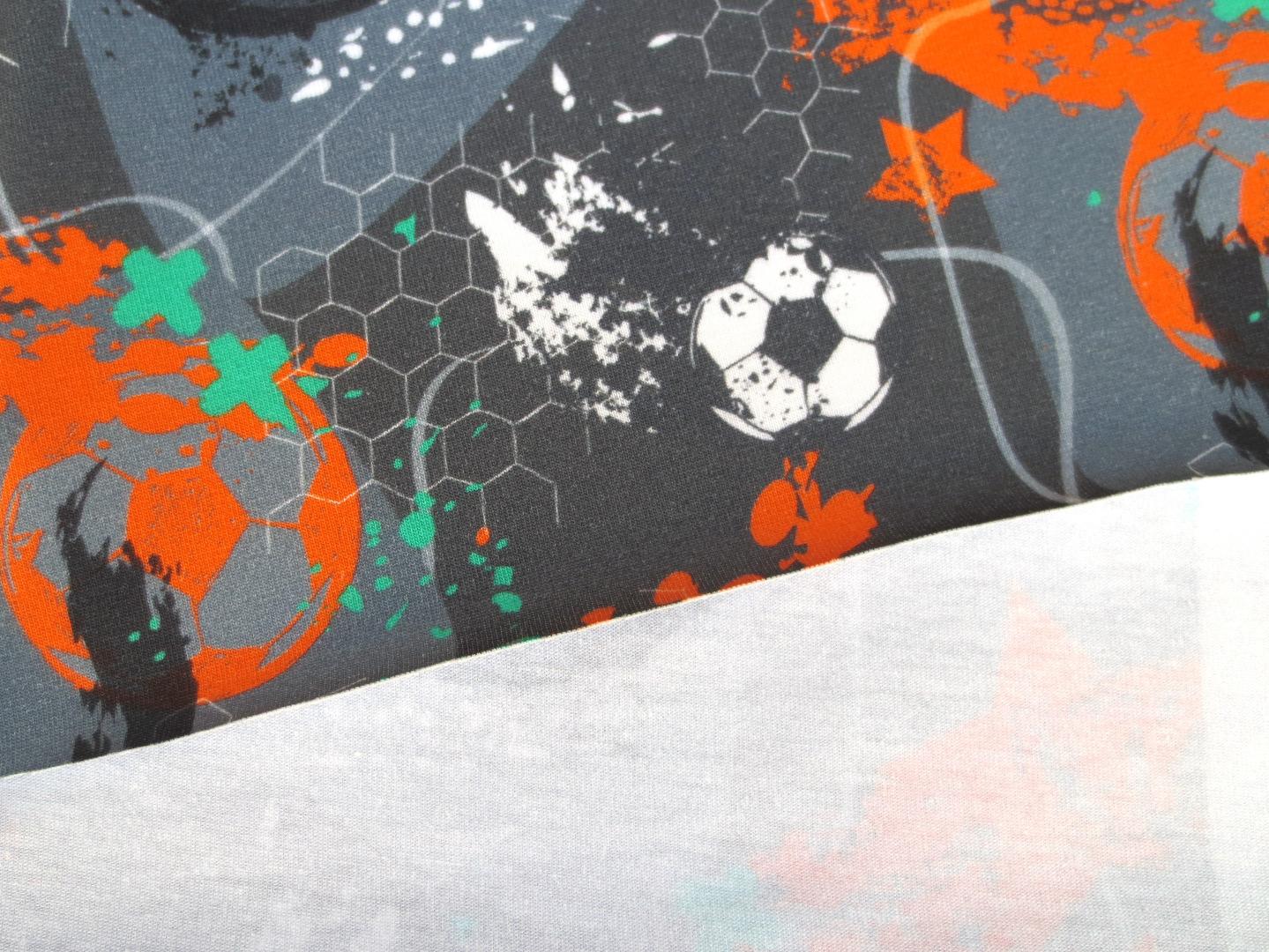 Jersey Fussball - grau - orange