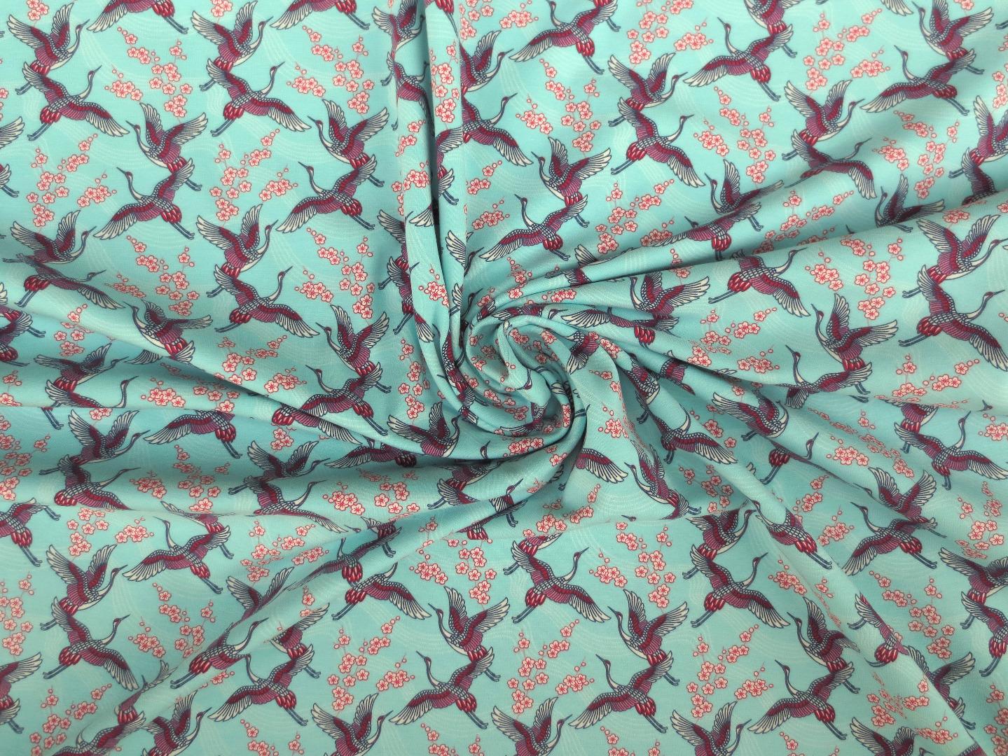 Jersey Kraniche - mint - Kirschblüten