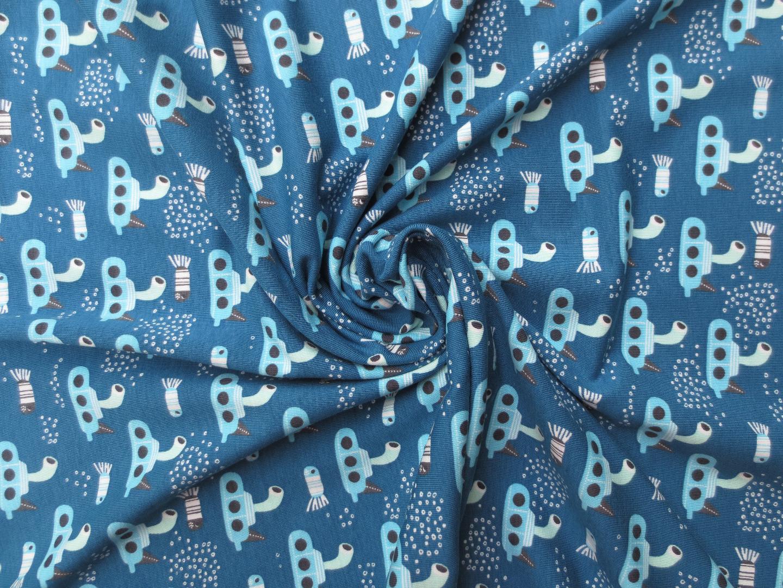 Jersey UBoot - blau - hellblau