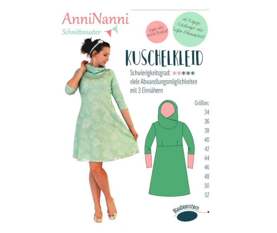 Kuschelkleid von AnniNanni - Papierschnittmuster -