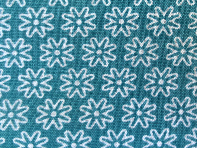 Stoff Blumen petrol - 100 Baumwolle