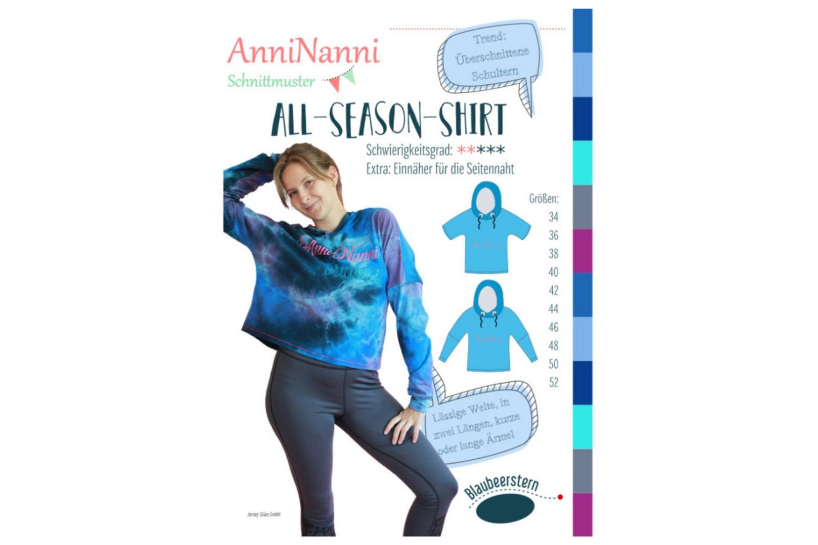 All-Season-Shirt - AnniNanni - Papierschnittmuster -