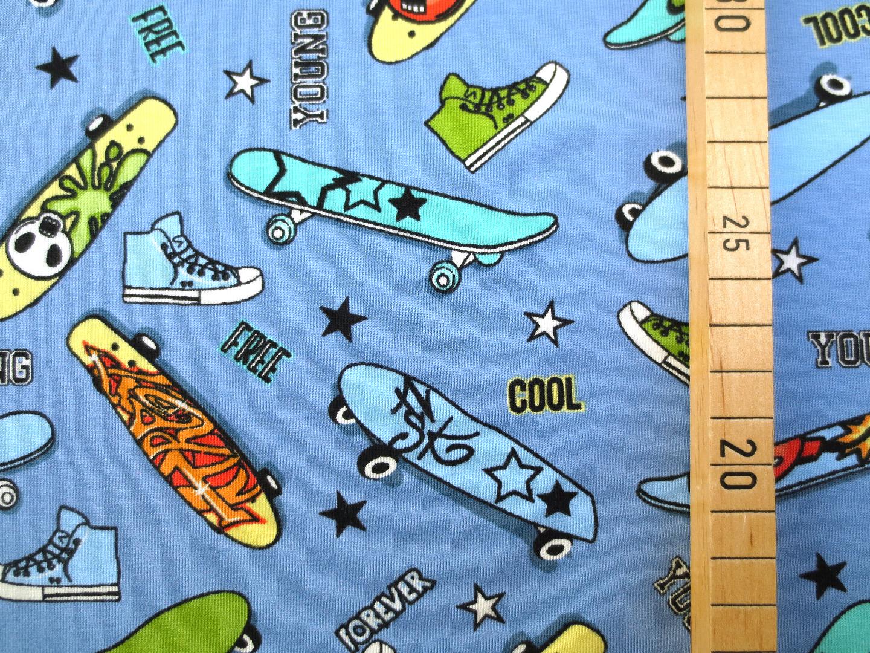 Jersey Skateboard - hellblau