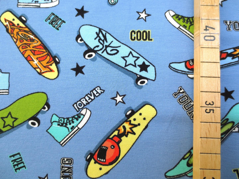 Jersey Skateboard - hellblau 4