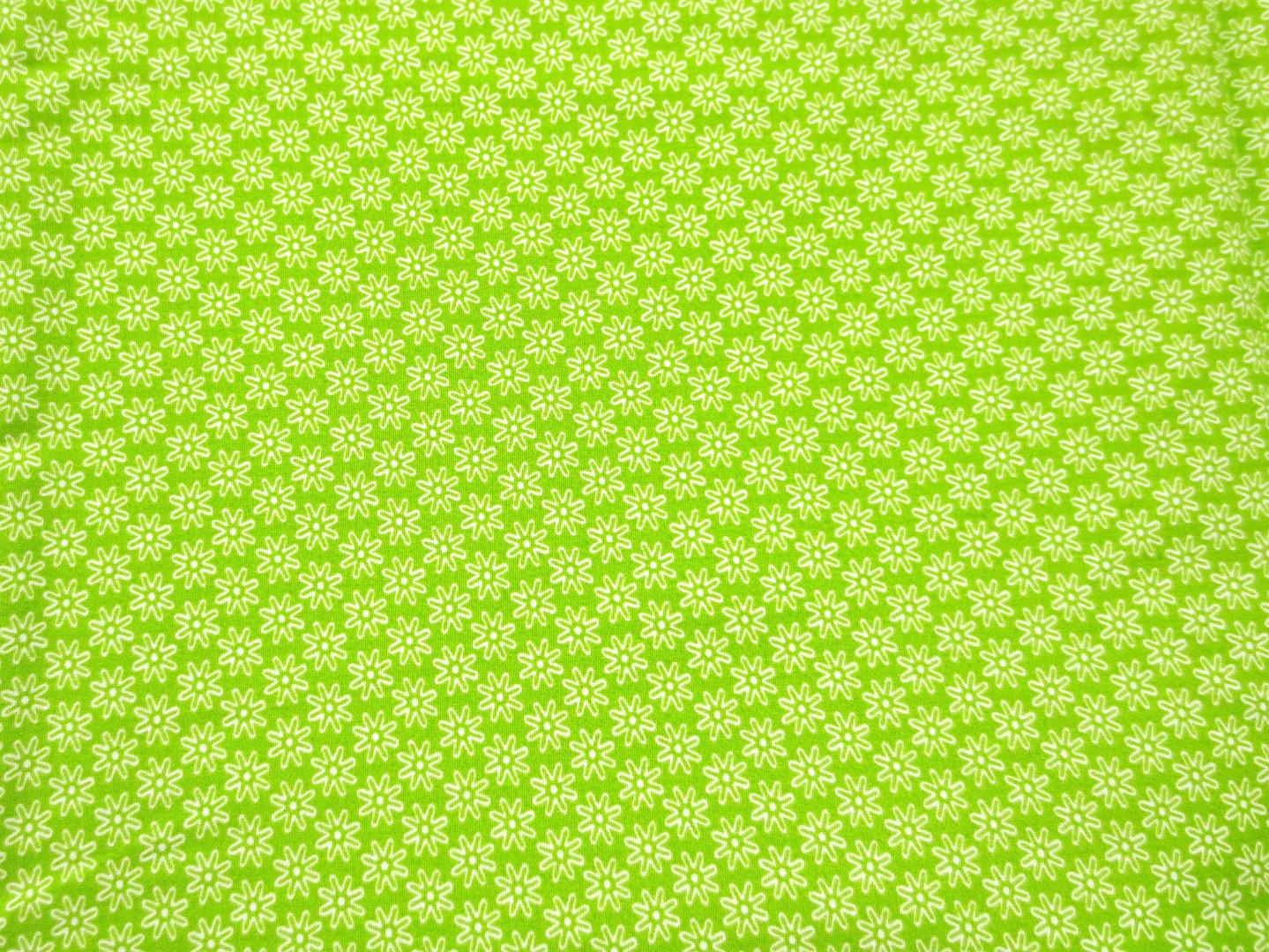 Stoff Blumen hellgrün - 100 Baumwolle