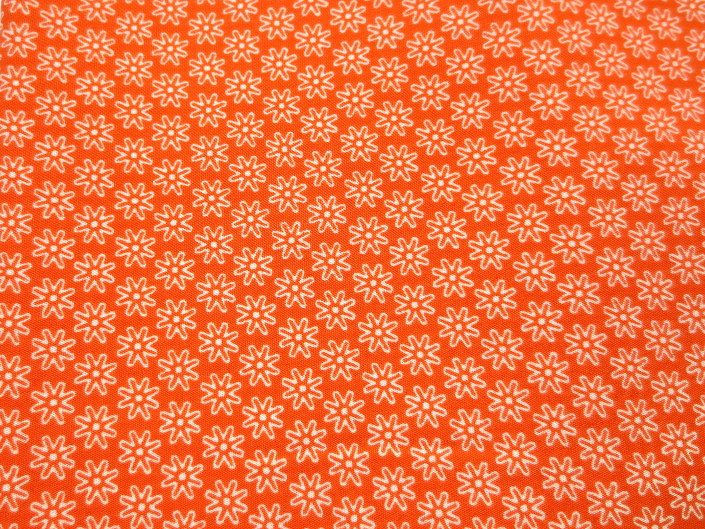 Stoff Blumen orange - 100 Baumwolle