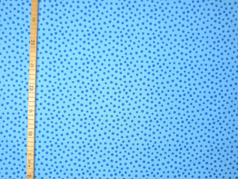 Baumwollstoff Punkte EUR/m blau Westfalenstoffe 100